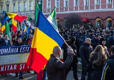 Szélsõségesek a román nemzeti ünnepen Szepsiszentgyörgyön