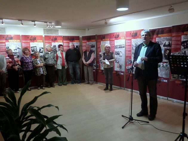 dr. Fazekas Csaba történész beszéde a megnyitón PTV Fotó: Vona Ildikó