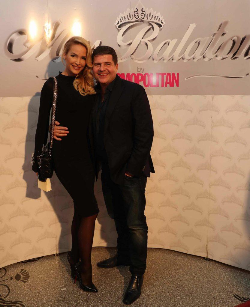 Zimány Linda és Kedves Ferenc a Miss Balaton Winter Party-n