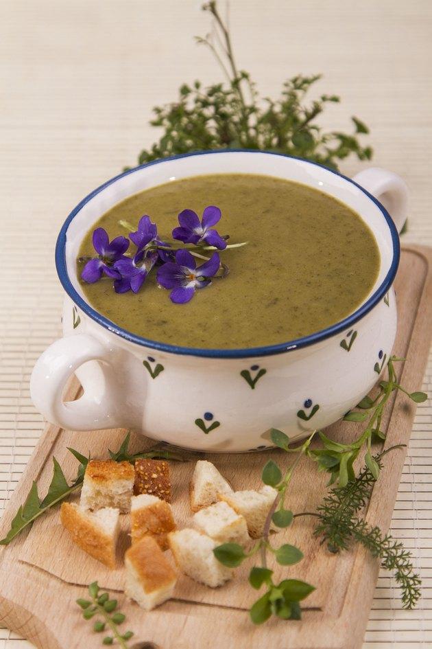 Zöldcsötörtöki leves