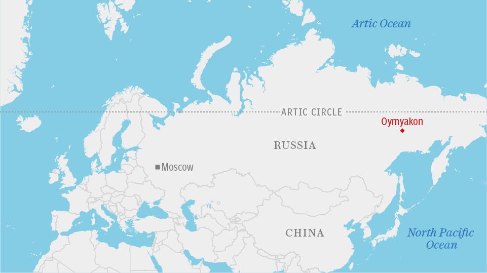 Ojmjakon, a világ leghidegebb lakott települése
