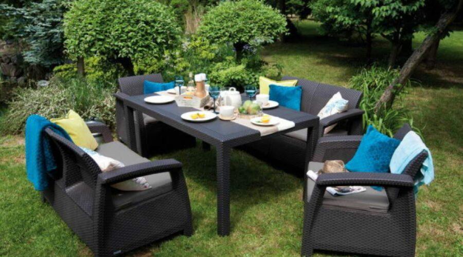 Műrattán kerti bútorok