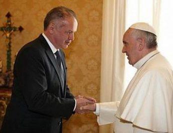Kiska találkozott Ferenc pápával