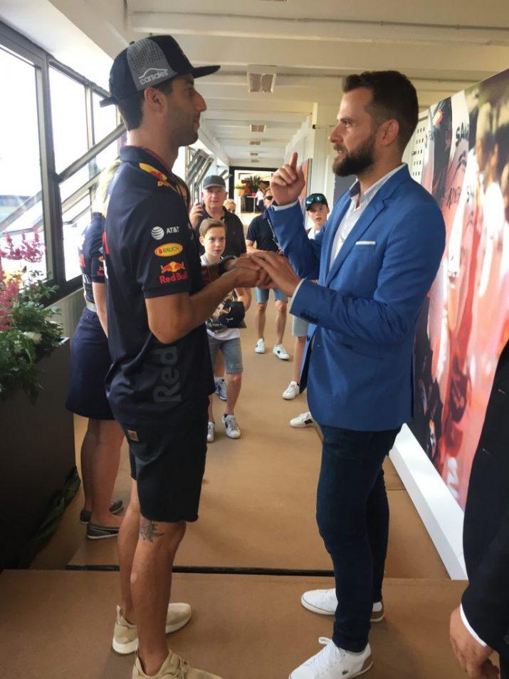 Danny Blue es Daniel Ricciardo Forma1