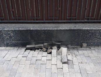 sérült járda