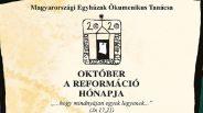 Október a reformáció hónapja