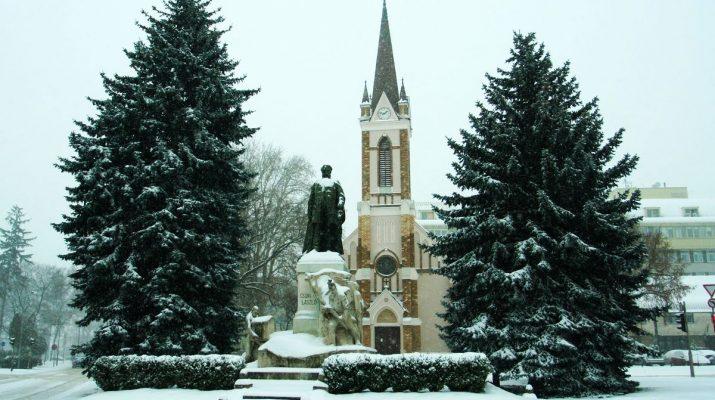 Zalaegerszeg, templom, hóesés