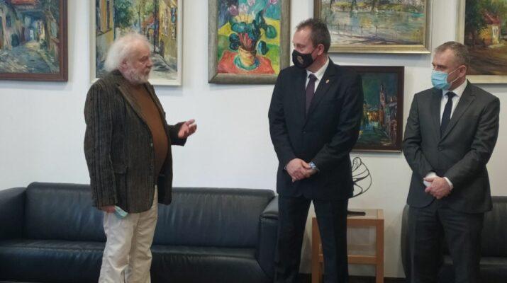 Soltész Péter festőművész tárlata Magyarország Ungvári Főkonzulátusán